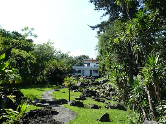 Lake Villa Guatemala: The house and lower grounds