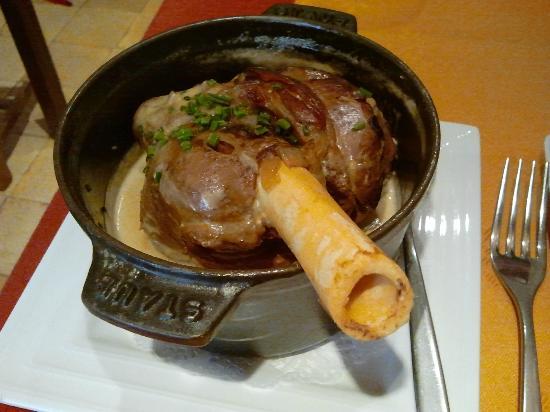 La Cassolette : Coscio di agnello con salsa