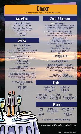 Main Street Bar & Grill: Dinner Menu