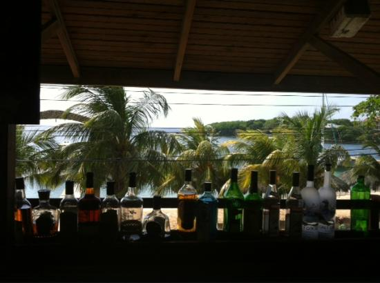 Coconut Tree Restaurant : the look out on the water over the bar