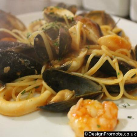 Positano: Pasta with seafood