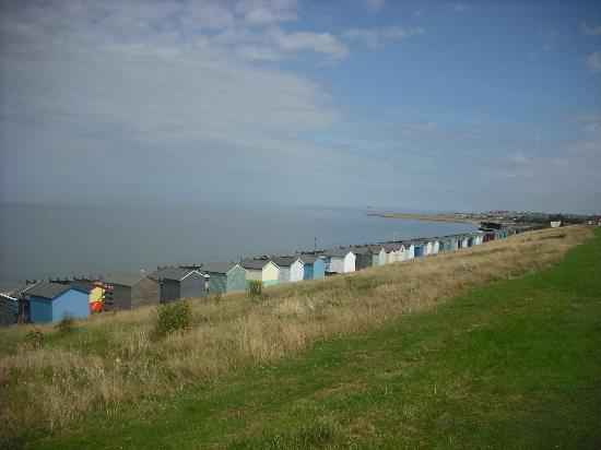 Tankerton Beach: The view from the top, sitting on a bench