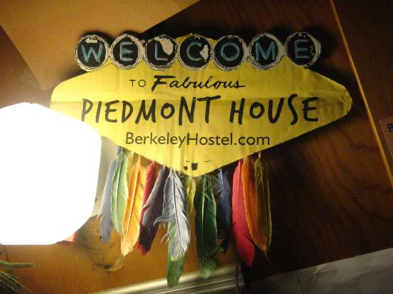 Piedmont House: Lobby sign