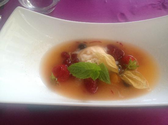 Le 35 : Soupe de melon aux fruits rouges