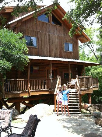Log Country Cove: Front of the Tree House