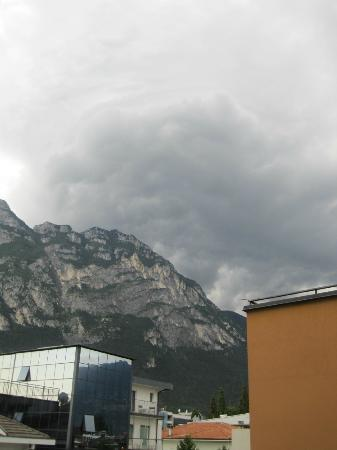 Hotel Garda - TonelliHotels: Storm on the last night (Hotel La Perla to the left)