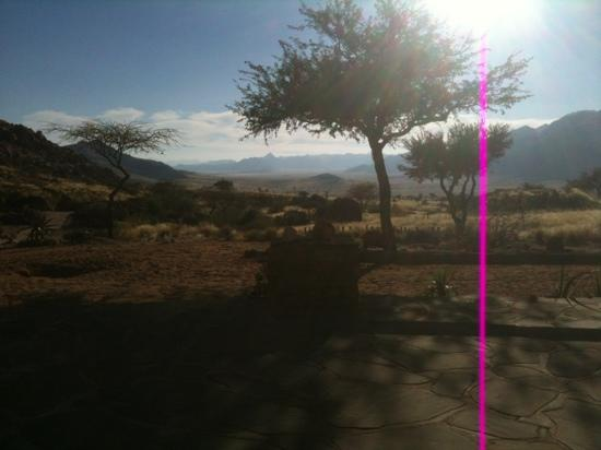 Barchan Dune Retreat : View out of our Room ... amazing at sunrise !!