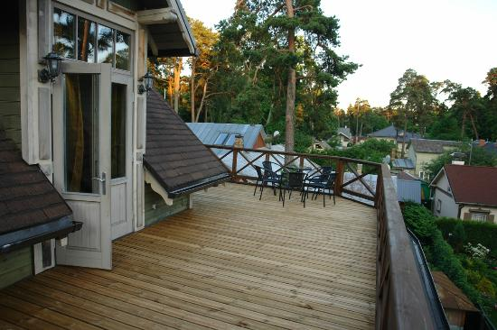 Jurmala Holidays: Largest private terrace of 2 bedroom apartment