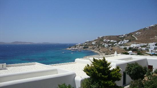 Mykonos Grand Hotel & Resort: the view from our room of the Aegean Sea