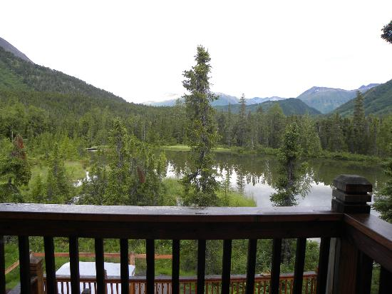 Inn at Tern Lake: The view from the private deck on our room