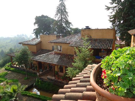 Eco-hotel Ixhi: Vista desde la terraza hacia parte del hotel!!!