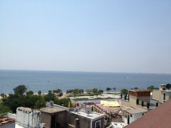 Artefes Hotel: View of the Marmara from the Roof
