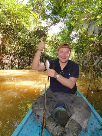 Chullachaqui  Eco Lodge : only a small catfish