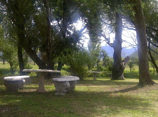 Bushmans Nek Berg & Trout Resort: Picnic spot near the resort