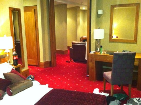 Tullamore Court Hotel: suite 305 bedroom looking into lounge.
