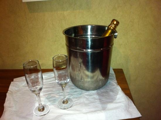Tullamore Court Hotel: Champagne on ice.