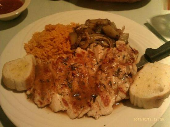 Rania's Restaurant, Bar & Grill: Rosemary glazed chicken with sauteed potatoes and onions