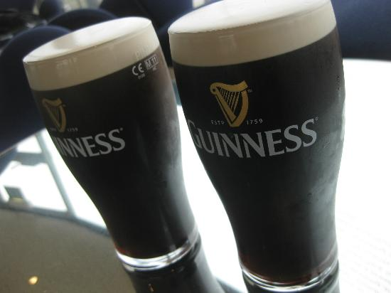 Guinness Storehouse: the pints!