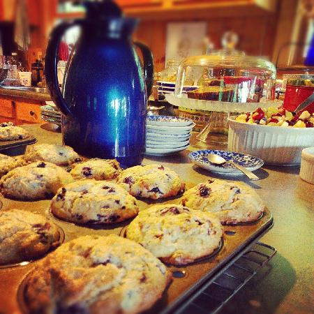 Williams Pond Lodge: Muffins! Maine blueberries!