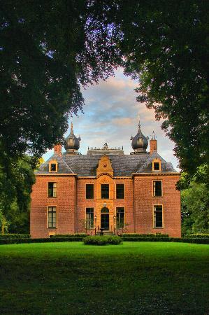 Landgoed Kasteel Oud-Poelgeest: kasteel oud poelgeest van uit de bossen gezien
