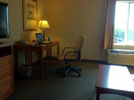 Hampton Inn Twin Falls Idaho: The desk chair that was stuck at lowest height setting