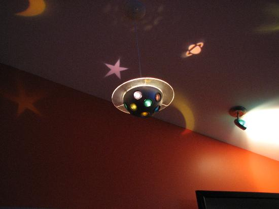 The Roxbury, Contemporary Catskill Lodging: George's Spacepad ceiling light fixture