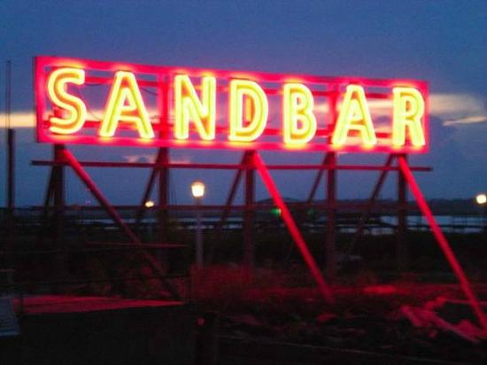 Sandbar Restaurant : Sandbar neon sign