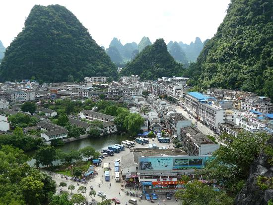 Overlooking Yangshuo from Yangshuo Park