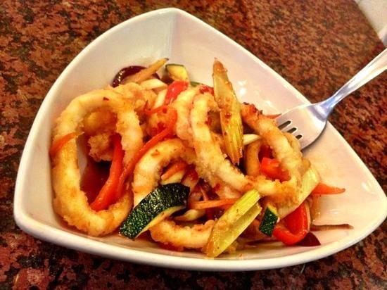 Café Renoir: salted chilli squid
