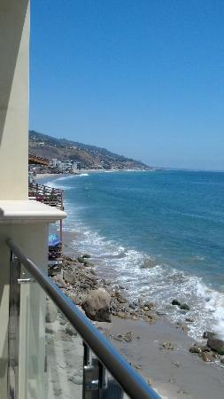 Malibu Beach Inn: From our balcony looking south.