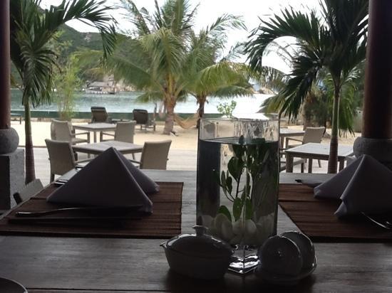 L'Alyana Villas Ninh Van Bay: la vue depuis le restaurant