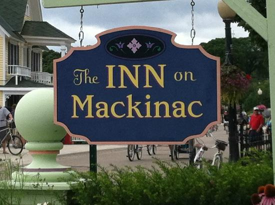 Inn on Mackinac: Look for this sign