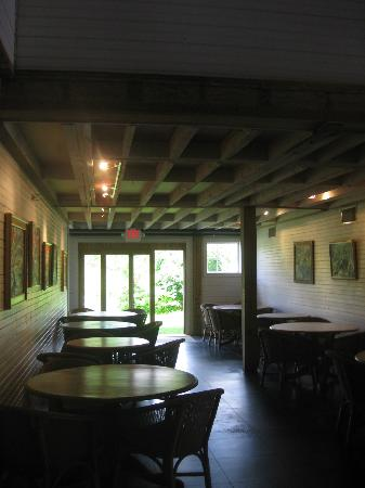 Gedney Farm: ground floor of the barn-breakfast area