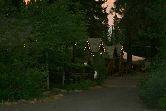 Tahoe Vista Lodge & Cabins: The other cabins at dusk