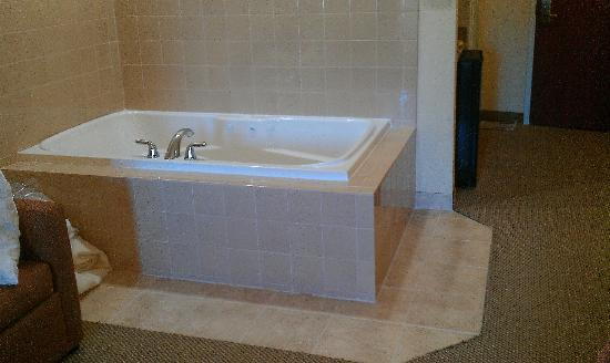 Comfort Suites: there's your tub, right next to the sofa...:(
