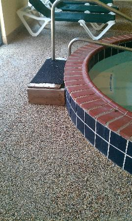 Comfort Suites: isn't that a nice step? There's a tile one underneath - wonder what it looks like?