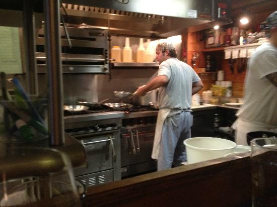 Tradewinds Imported Foods : Table side view of the kitchen