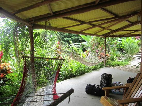 Hotel Buenisimo: The hammocks outside our Casitas.