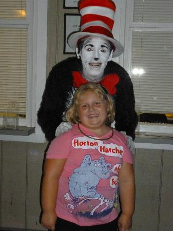 The Stephen Foster Story: Cat in the Hat with granddaughter