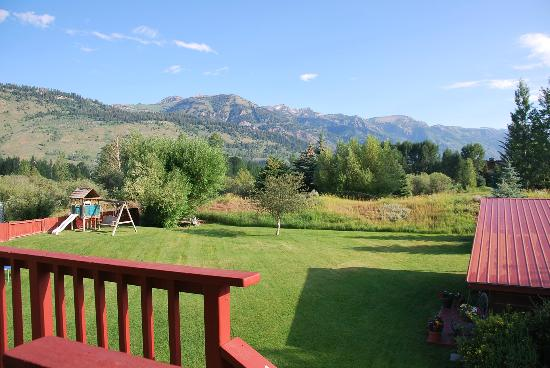 Teton View Bed & Breakfast: View from the deck