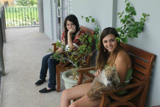 Almond Tree Hotel Resort: Sitting on patio outside room, with Cudamundi