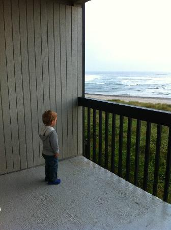 Best Western Plus Lincoln Sands Oceanfront Suites: My son watching the waves...