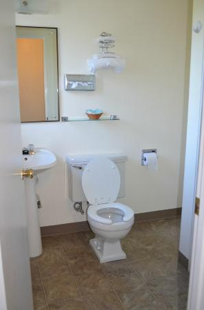 Riviera Inn: Bathroom with stall shower in single room