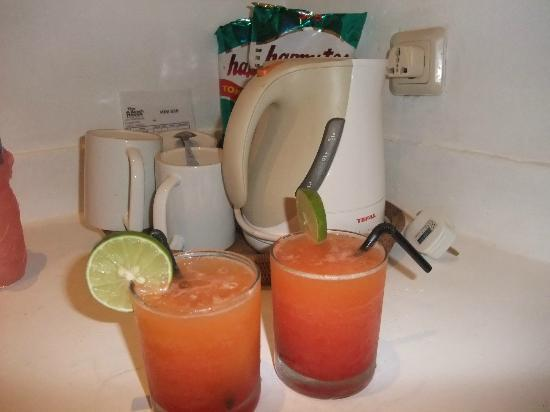 The Beach House Resort: welcome drink