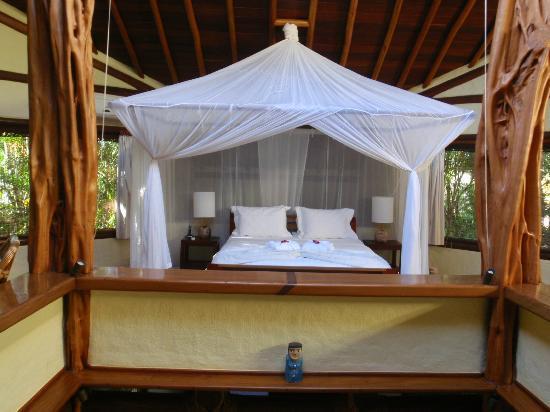 Villas de Trancoso Hotel: Nossa cama, muitoooooo boa!!!!