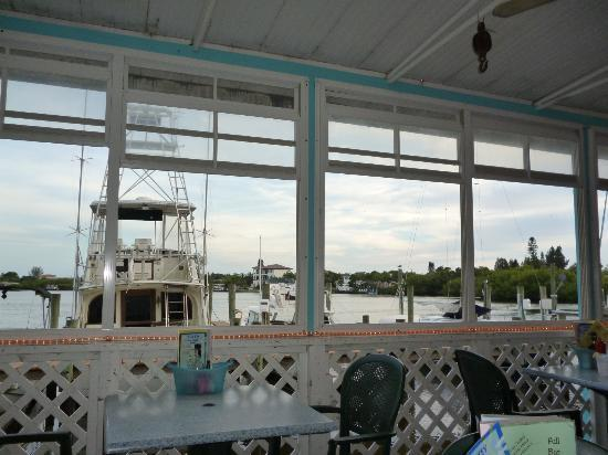 View from inside restaurant picture of casey key fish for Casey key fish house