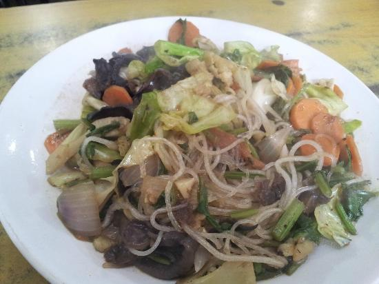 Gakyi Restaurant: Mixed Vegetables with Phing(Glass Noodle) with black mushroom