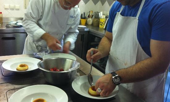 Jean Marc Villard's Cooking Class - Day Classes: Plating our scrumptious dessert