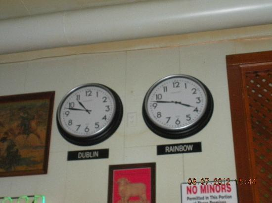 Rainbow Cafe: Dublin-Rainbow clocks