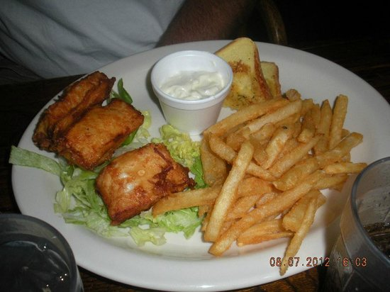 Rainbow Cafe: halibut fish n chips killer fries
